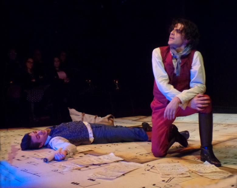 foto de Marcelo Serre y Juan Manuel Correa en la obra Coronado de Gloria