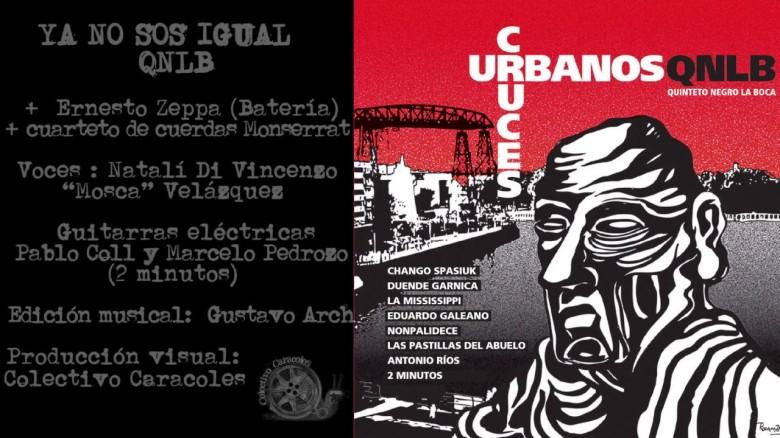 portada del cd Cruces Urbanos del Quinteto Negro La Boca, con sus intérpretes