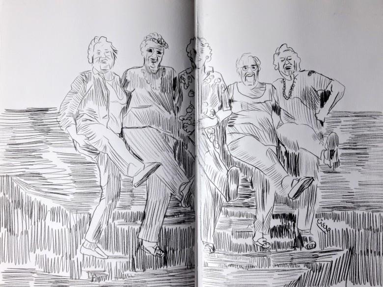 Ilustración de Vejez por Cielo Galibert