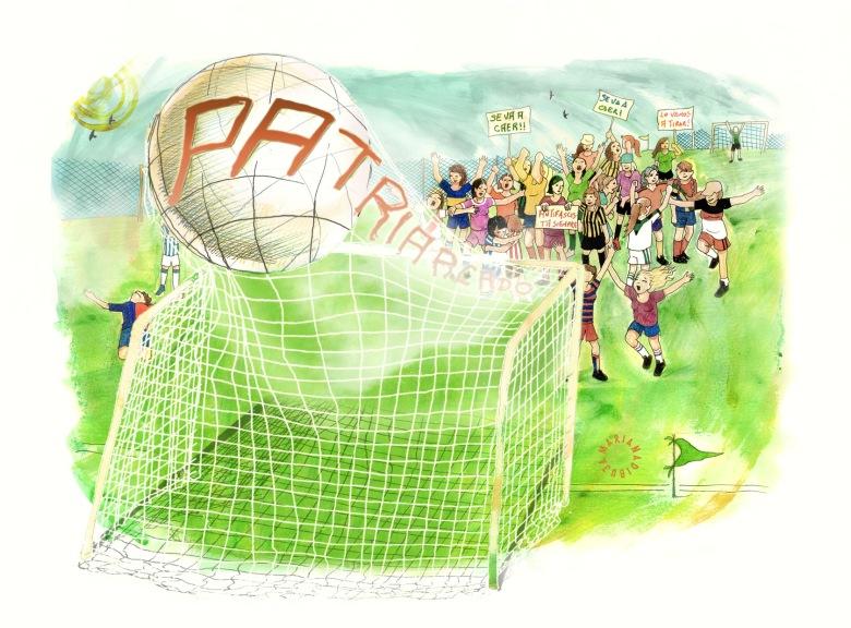 Ilustración de Mariana Baizan - futbol Femenino