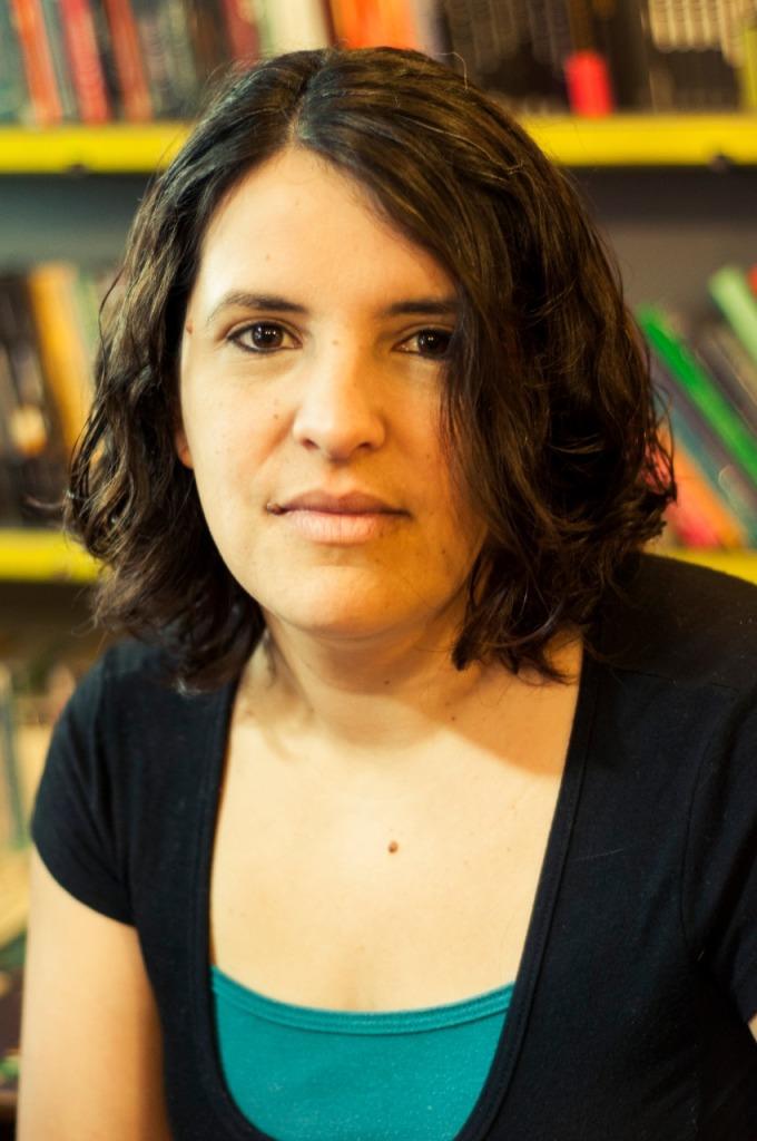 Foto de Natalia Rodríguez Simón en la entrevista realizada para Revista Amalgama por Rosario Iniesta.